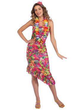 Adult Hawaii Pink DressCostume