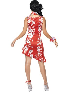 Adult Hawaiian Beauty Costume - Side View