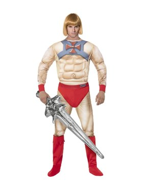 Adult He-Man Costume with EVA Chest Couples Costume
