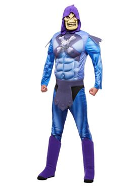Adult He-Man Skeletor Costume with EVA Chest - Back View