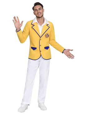 Adult Hi De Hi Male Yellow Coat Costume Couples Costume