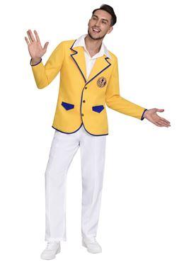 Adult Hi De Hi Male Yellow Coat Costume - Side View