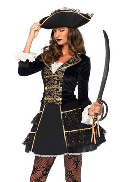 Adult High Seas Pirate Captain Costume