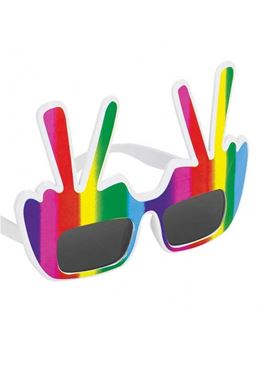 Adult Hippie Peace Glasses