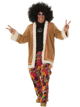 Adult Hippy Long Jacket Costume