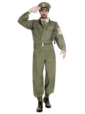 Adult Home Guard Dad's Army Costume - Side View