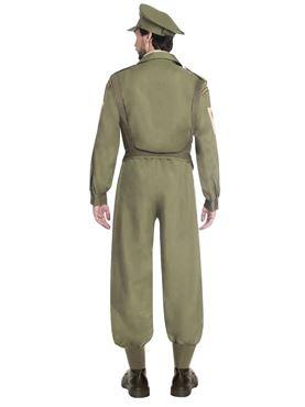 Adult Home Guard Dad's Army Costume - Back View