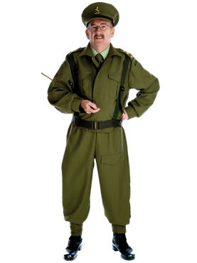 Adult Home Guard Dad's Army Costume Couples Costume
