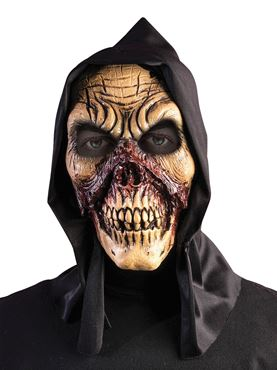 Adult Hooded Bloody Skull Mask