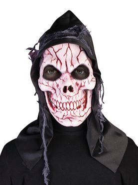 Adult Hooded Ghost Skull Mask