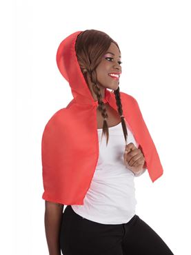 Adult Hooded Red Cape
