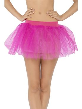 Adult Hot Pink Tutu Underskirt - Back View