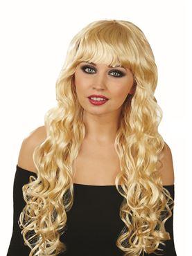 Adult Platinum Blonde Wavy Wig