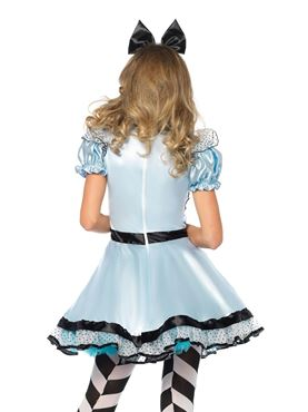 Adult Hypnotic Miss Alice Costume - Back View