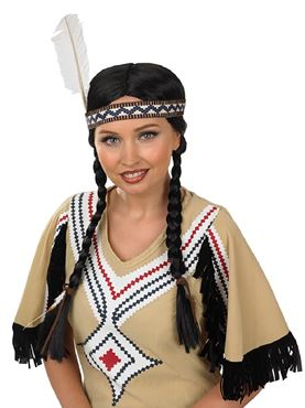 Adult Indian Squaw Wig