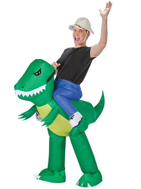 Adult Inflatable Dinosaur Rider Costume