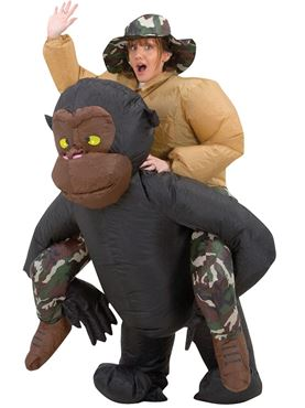 Adult Inflatable Riding Gorilla Costume