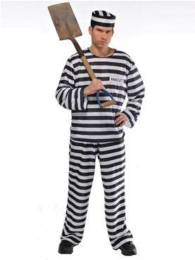 Adult Jailbird Con Costume
