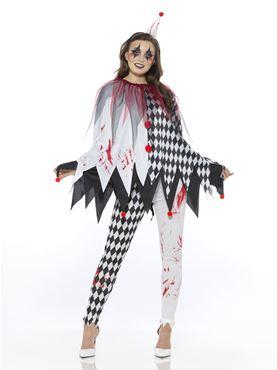 Adult Jester Clown Lady Costume