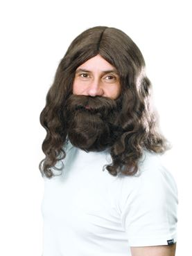 Adult Jesus Wig and Beard Set
