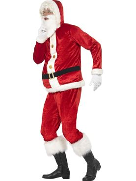 Adult Jolly Santa Costume - Back View