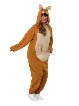 Adult Kangaroo Onesie Costume - Back View