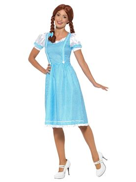 Adult Kansas Country Girl Costume - Back View