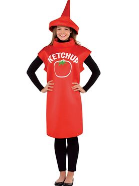 Adult Ketchup Bottle Costume Couples Costume