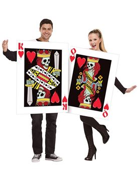 Adult King & Queen of Bleeding Hearts Couples Costume