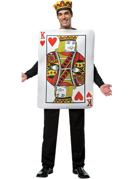 Adult King of Hearts Playing Card Costume Couples Costume