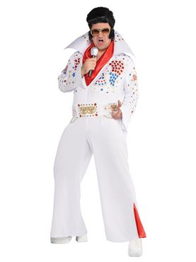 Adult King of Vegas Elvis Costume - Back View
