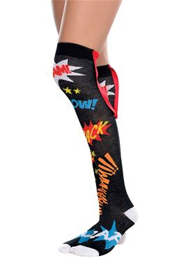 Adult Knee High Superhero Socks
