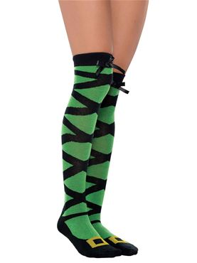 Adult Knee High Whimsy Witch Socks