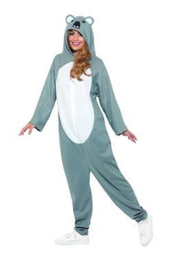 Adult Koala Onesie Costume - Back View