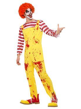 Adult Kreepy Killer Clown Costume - Back View