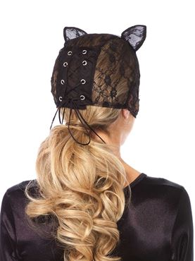 Adult Lace Cat Mask - Back View