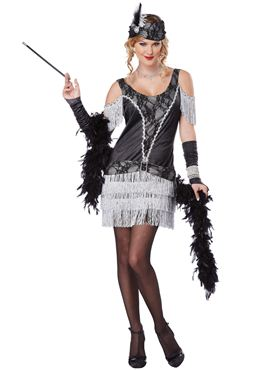 Adult Ladies Razzle Dazzle Flapper Costume