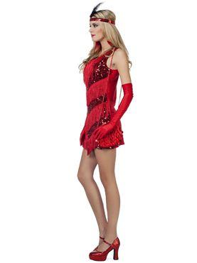 Adult Ladies Charleston Flapper Costume - Back View