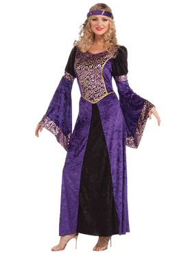 Adult Ladies Medieval Maiden Costume Couples Costume