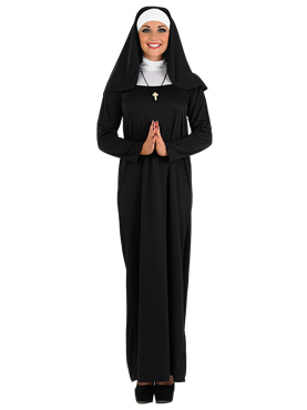 Adult Ladies Nun Costume Couples Costume