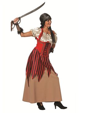 Adult Ladies Pirate Costume Thumbnail