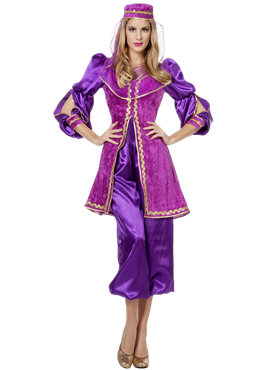 Adult Ladies Purple Oriental Bollywood Costume Couples Costume