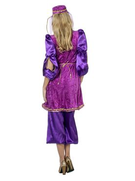 Adult Ladies Purple Oriental Bollywood Costume - Side View