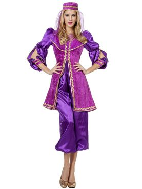 Adult Ladies Purple Oriental Bollywood Costume Thumbnail