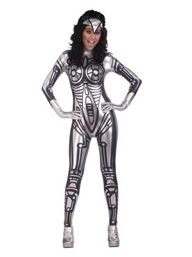 Adult Ladies Robot Jumpsuit Costume Couples Costume