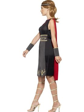 Adult Ladies Roman Warrior Costume - Back View