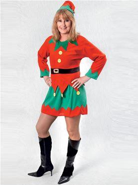 Adult Ladies Santa's Helper Costume Thumbnail