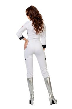 Adult Ladies Sexy Astronaut Costume - Side View