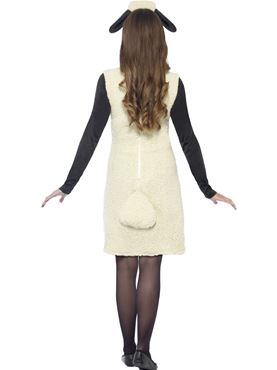 Adult Ladies Shaun the Sheep Costume - Side View