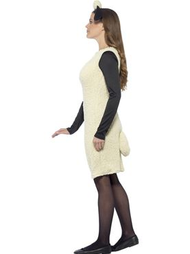 Adult Ladies Shaun the Sheep Costume - Back View